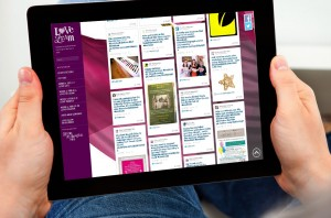 Person viewing the Love Leam website on a tablet