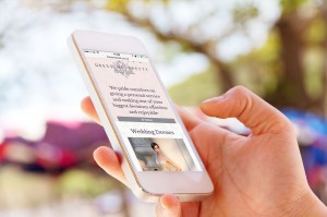 Fully responsive bridal website for busy brides